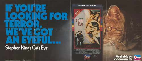 cats eye vhs poster